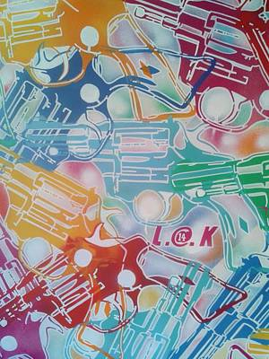 Stencil Art Painting - 18 Guns by Leon Keay
