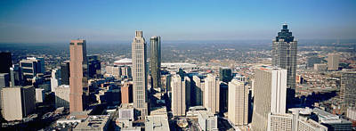 Rooftop Photograph - High Angle View Of Buildings In A City by Panoramic Images