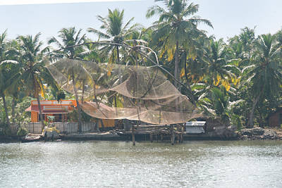 Kerala Backwater Art Print by Carol Ailles