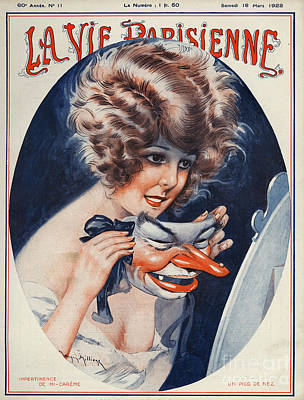 La Vie Parisienne  1922 1920s France Art Print by The Advertising Archives