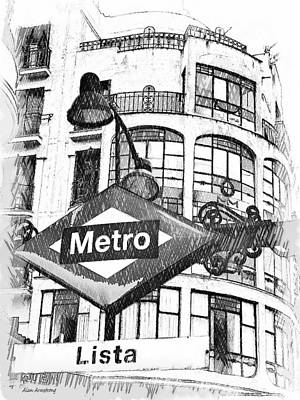 Lista Digital Art - 18 Lista Metro Madrid by Alan Armstrong