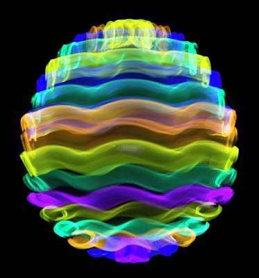 Multicoloured Light Trails Art Print