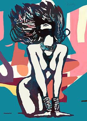 Nude Pop Stylised Art Poster Art Print