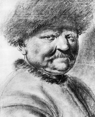 Caricature Drawing - Peter I (1672-1725) by Granger