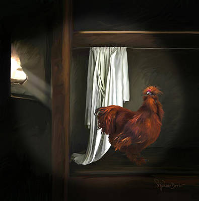 Digital Art - 18. Red Rooster by Sigrid Van Dort