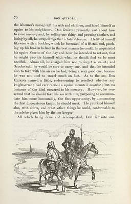 Revising Photograph - The History Of Don Quixote by British Library