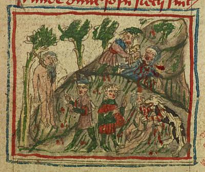 Travels Of Sir John De Mandeville Art Print by British Library
