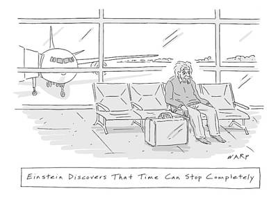 Terminal Drawing - New Yorker April 20th, 2009 by Kim Warp