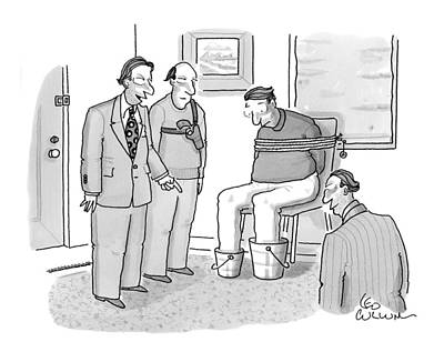 Drawing - New Yorker January 19th, 2009 by Leo Cullum