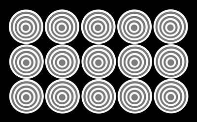 Digital Art - 180 Circles Grayscale by Asbjorn Lonvig