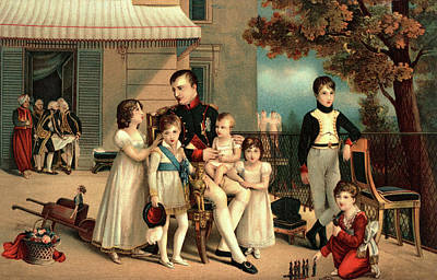 Relating Painting - 1800s 1810 Portrait Of Napoleon by Vintage Images