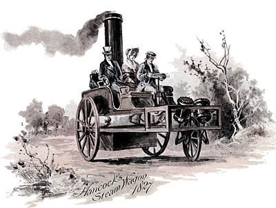Power Painting - 1800s 1827 Hancocks Steam Wagon A Steam by Vintage Images