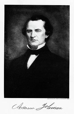 Vintage Camera Painting - 1800s 1860s Andrew Johnson Abraham by Vintage Images
