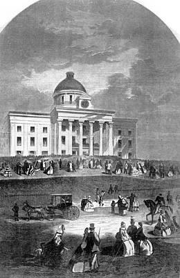 1800s 1860s February 18 1861 Jefferson Art Print
