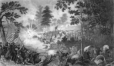 July Painting - 1800s 1860s First Battle Of Bull Run by Vintage Images