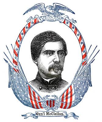 Patriotism Painting - 1800s 1860s General Mcclellan Portrait by Vintage Images