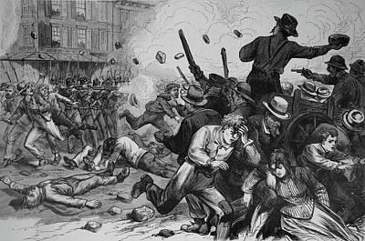 1800s 1870s Great Railroad Strike 1877 Art Print