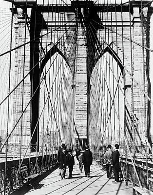 1880s Photograph - 1800s 1880s Men Standing On Brooklyn by Vintage Images