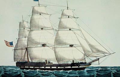 1800s 19th Century American Clipper Art Print