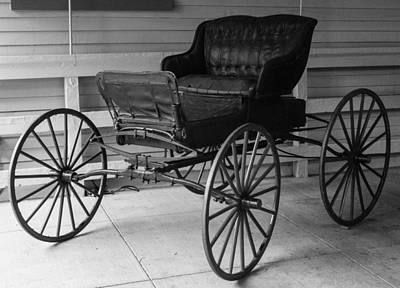 Photograph - 1800's Buggy by Robert Hebert