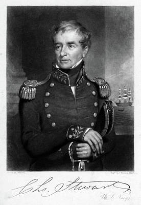 War Of 1812 Painting - 1800s Charles Stewart Of United States by Vintage Images