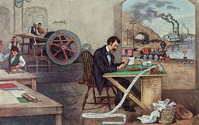 Steamboat Painting - 1800s Currier And Ives Progress by Vintage Images