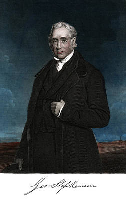 Vintage Camera Painting - 1800s George Stephenson English Civil by Vintage Images