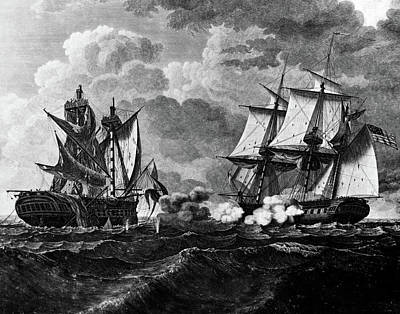 War Of 1812 Painting - 1800s Us Frigate Uss United States by Vintage Images