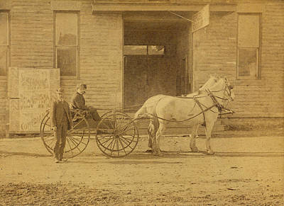 Photograph - 1800's Vintage Photo Of Horse Drawn Carriage by Charles Beeler