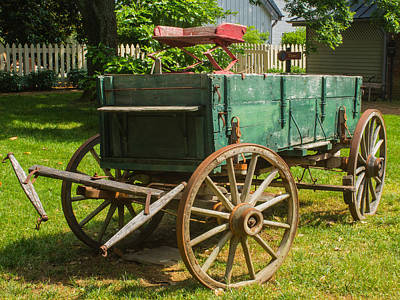 Photograph - 1800's Wagon by Robert Hebert