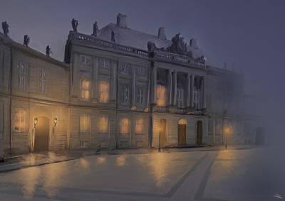 Oldschool Digital Art - 1800th Amalienborg  by Mikkel Skov
