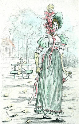 1801, Womens Fashion In Nineteenth-century Paris Art Print