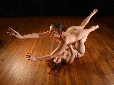 Photograph - 1807 Two Nude Women Dominance And Submission  by Chris Maher
