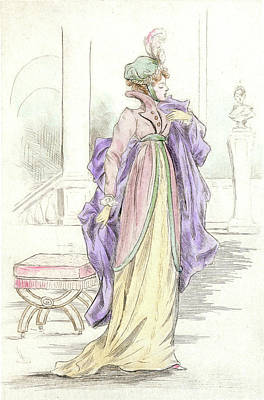 1809, Womens Fashion In Nineteenth-century Paris Art Print