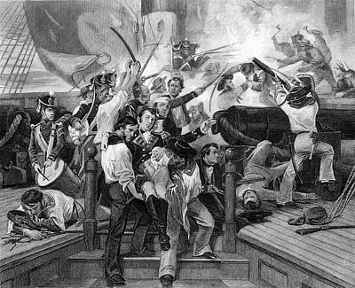 War Of 1812 Painting - 1810s August 1813 Death Of Captain by Vintage Images