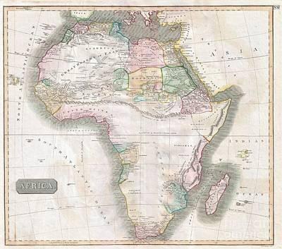 1813 Thomson Map Of Africa Art Print