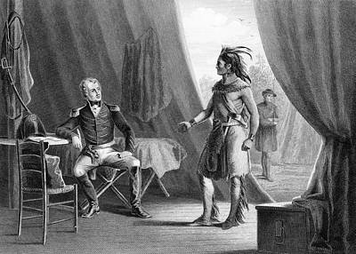 1814 Painting - 1814 General Andrew Jackson & Red Eagle by Vintage Images
