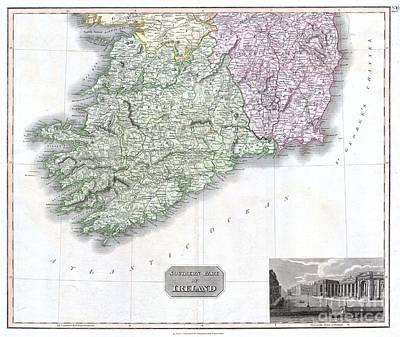 1814 Thomson Map Of Southern Ireland Art Print