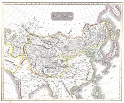 Map Photograph - 1814 Thomson Map Of Tartary  Mongolia Tibet by Paul Fearn