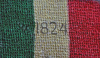 Photograph - 1824 Texas Flag by Bill Owen