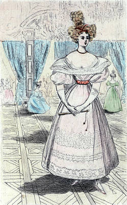 1828, Womens Fashion In Nineteenth-century Paris Art Print