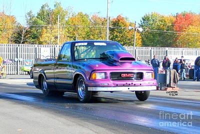 Drag Racing Wall Art - Photograph - Esta Safety Park 10-12-14 by Vicki Hopper