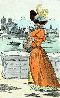 1830, Womens Fashion In Nineteenth-century Paris Art Print by Artokoloro