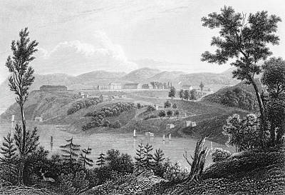 Education Painting - 1830s 1834 Engraving Of West Point by Vintage Images
