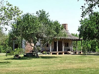 Dog Trots Photograph - 1830's Texas Dog-trot Cabin by Casey Jones
