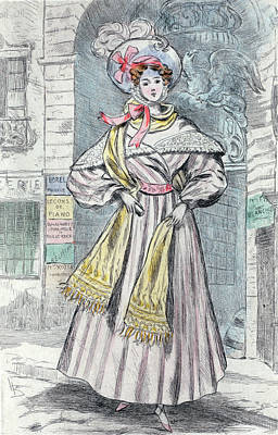 1833, Womens Fashion In Nineteenth-century Paris Art Print