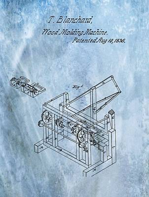 Digital Art - 1836 Wood Molding Machine by Dan Sproul