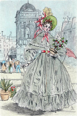 1838, Womens Fashion In Nineteenth-century Paris Art Print
