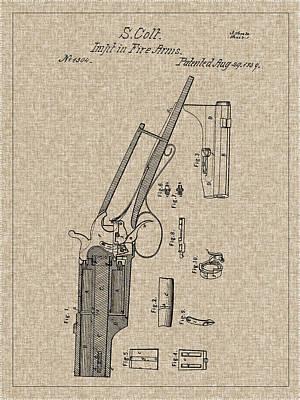Photograph - 1839 Colt Firearm Patent by Barry Jones