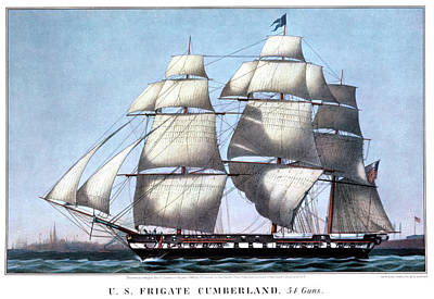 1880s Painting - 1840s Uss Frigate Cumberland, 54 Guns - by Vintage Images